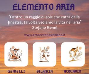 Segni Zodiacali e Fiori di Bach: capitolo 2 - Elemento ARIA Erboristeria siciliana, la tua erboristeria online